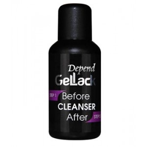 Depend Gellack Before Cleanser After