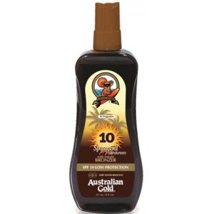Australian Gold SPF 10 Spray Gel W Broncer 237 ml