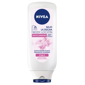 Body Milk Nivea Bajo la Ducha Efecto Luminoso 400ml