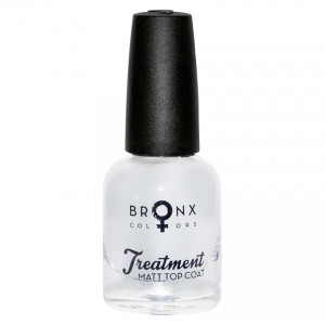 BRONX NAIL LACQUER GEL LOOK MATT TOP COAT 0