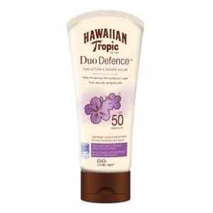 Hawaiian Tropic Loción Duo Defenser F-50 180ml