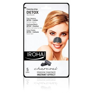 Mascarilla Iroha Detox Charcoal Black Nose Strip 0