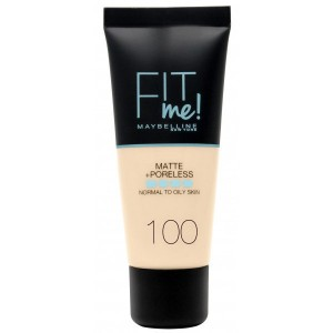Maybelline Fit Me Matte&Poreless 100 Warm Ivory 1