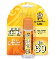 Australian gold spf 50 face guard tatoo