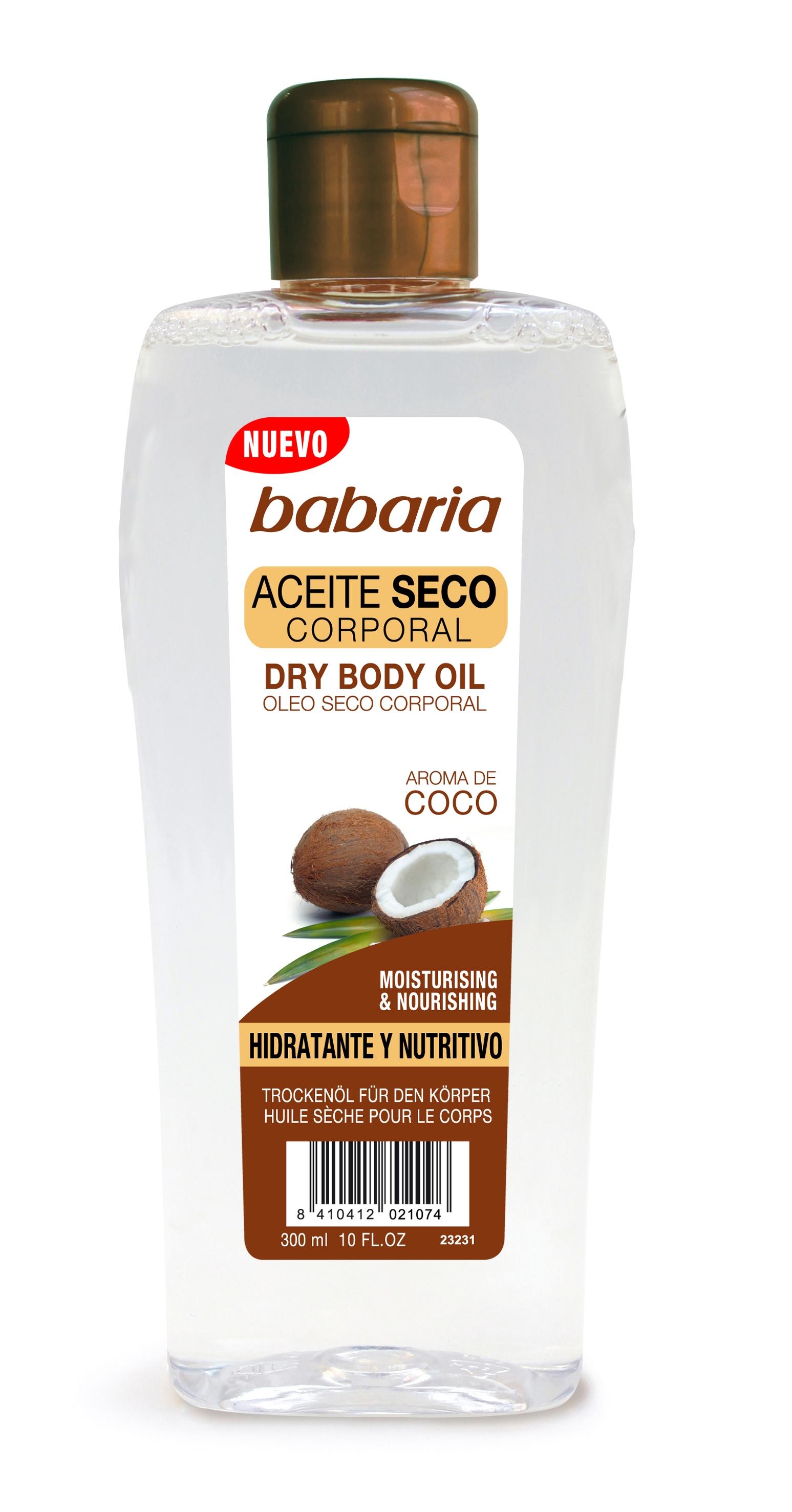 Comprar Aceite Corporal Babaria Coco Seco Hidratante Y Nutritivo